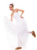 венчание Женщина идущей невесты смешная в ботинках спорта Стоковое Фото