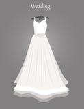 венчание заказа части платья иллюстрация вектора
