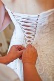 венчание заказа части платья Стоковое фото RF