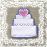 венчание карточки торта Стоковая Фотография