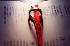 венчание кольца библии китайское Стоковая Фотография