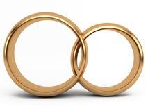 венчание кольца золота Стоковые Изображения