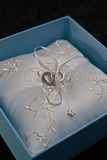венчание кольца коробки Стоковые Фото