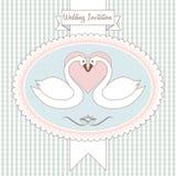венчание лебедя влюбленности приглашения бесплатная иллюстрация