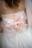 венчание мантии розовое s невесты applique стоковая фотография rf