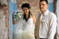 венчание места grunge пар Стоковое Изображение