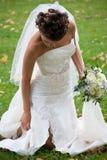 венчание невесты 3 букетов Стоковое Фото