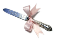 венчание ножа торта Стоковые Изображения