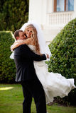 венчание пар счастливое Стоковое Изображение