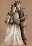 венчание пар иллюстрация штока