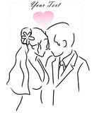 венчание пар Стоковое Изображение RF