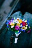 венчание переднего плана фокуса 3 букетов Цветки в шлюпке Стоковые Фото