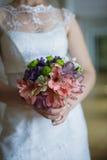 венчание переднего плана фокуса 3 букетов Стоковое Изображение