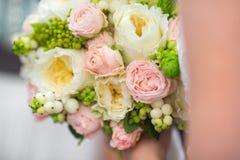 венчание переднего плана фокуса 3 букетов Стоковая Фотография