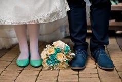 венчание переднего плана фокуса 3 букетов Стоковое фото RF