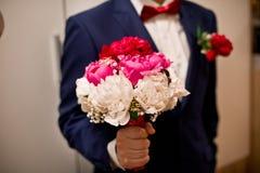 венчание переднего плана фокуса 3 букетов Стоковые Изображения RF