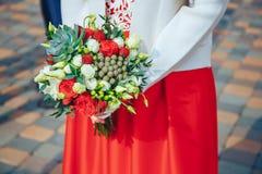 венчание переднего плана фокуса 3 букетов Стоковые Фото