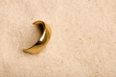 венчание песка кольца Стоковое Фото