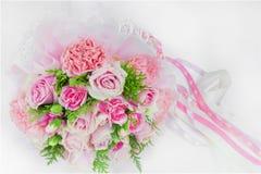 венчание пинка цветка элегантности украшения предпосылки романтичное Стоковое Изображение RF