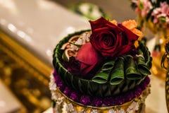 венчание пинка цветка элегантности украшения предпосылки романтичное Стоковая Фотография