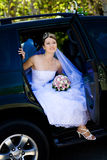 венчание портрета автомобиля невесты стоковое изображение