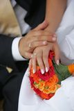 венчание портрета букета Стоковая Фотография RF