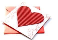 венчание приглашения габарита красное Стоковые Изображения RF