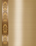 венчание приглашения золота граници шикарное Стоковое Изображение RF