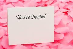 венчание приглашения Стоковая Фотография RF