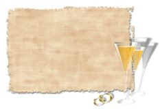 венчание приглашения Стоковое фото RF