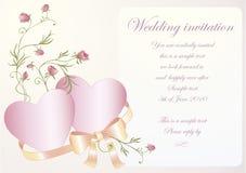 венчание приглашения Стоковая Фотография