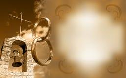 венчание приглашения иллюстрация штока