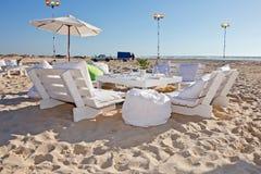 венчание приема пляжа напольное Стоковое Изображение