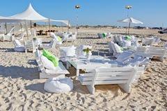 венчание приема пляжа напольное Стоковые Изображения