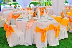 венчание приём гостей в саду стоковая фотография