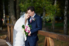 венчание прогулки groom невесты стоковые фотографии rf