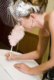венчание регистра невесты подписывая Стоковая Фотография RF