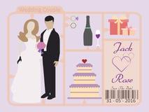 венчание романтичного символа приглашения сердец элегантности предпосылки теплое Стоковая Фотография