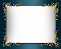 венчание сатинировки приглашения граници шикарное Стоковое Изображение