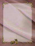 венчание сатинировки приглашения граници mauve Стоковое фото RF