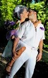 венчание сбора винограда дня пар одежды счастливое Стоковые Изображения RF