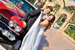 венчание сбора винограда дня пар одежды счастливое Стоковое фото RF