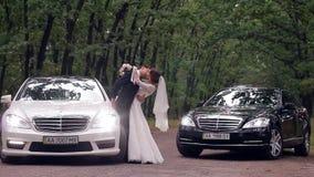 венчание сбора винограда дня пар одежды счастливое сток-видео