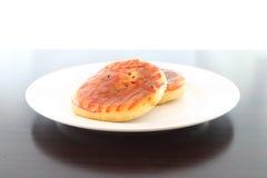 венчание стороны луны тарелки десерта торта китайское Стоковые Изображения RF