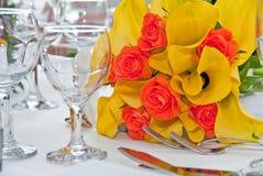 венчание таблицы букета Стоковое Изображение RF