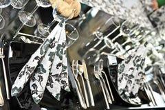 венчание таблицы вычуры обеда установленное Стоковое Фото