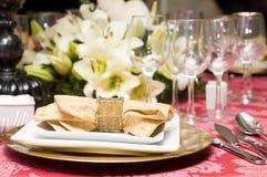 венчание таблицы вычуры торжества установленное Стоковые Фотографии RF