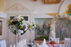 венчание таблицы партии случая установленное Стоковая Фотография RF