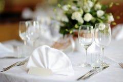 венчание таблицы партии случая установленное Стоковая Фотография