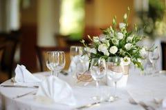 венчание таблицы партии случая установленное Стоковое фото RF